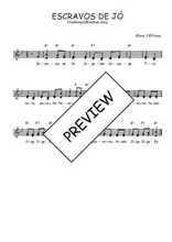 Téléchargez l'arrangement de la partition de Traditionnel-Escravos-de-Jo en PDF à deux voix