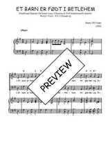 Téléchargez la partition de Et barn er født i Betlehem en PDF pour 2 voix égales et piano