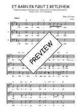 Téléchargez l'arrangement de la partition de Traditionnel-Et-barn-er-fodt-i-Betlehem en PDF à trois voix