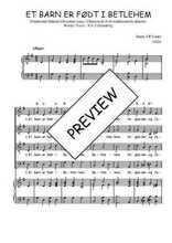 Téléchargez la partition de Et barn er født i Betlehem en PDF pour 4 voix SATB et piano