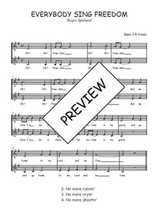 Téléchargez l'arrangement de la partition de Traditionnel-Everybody-sing-freedom en PDF à deux voix