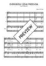 Téléchargez la partition de Everybody sing freedom en PDF pour 3 voix SAB et piano