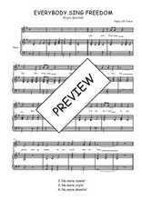 Téléchargez la partition de Everybody sing freedom en PDF pour Chant et piano