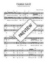 Téléchargez l'arrangement de la partition de Traditionnel-Famba-naye en PDF à deux voix