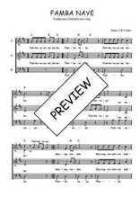 Téléchargez l'arrangement de la partition de Traditionnel-Famba-naye en PDF à trois voix