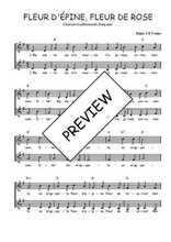 Téléchargez l'arrangement de la partition de Traditionnel-Fleur-d-Epine-Fleur-de-Rose en PDF à deux voix