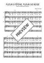 Téléchargez la partition de Fleur d'Epine, Fleur de Rose en PDF pour 3 voix SAB et piano
