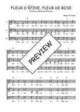 Téléchargez l'arrangement de la partition de Traditionnel-Fleur-d-Epine-Fleur-de-Rose en PDF à trois voix