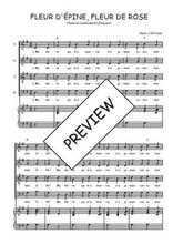 Téléchargez la partition de Fleur d'Epine, Fleur de Rose en PDF pour 4 voix SATB et piano