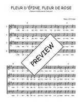 Téléchargez l'arrangement de la partition de Traditionnel-Fleur-d-Epine-Fleur-de-Rose en PDF à quatre voix