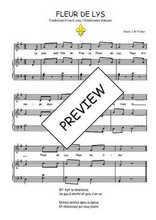 Téléchargez la partition de Fleur de Lys en PDF pour Chant et piano