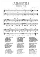 Téléchargez l'arrangement de la partition de Traditionnel-Gaudeamus-Igitur en PDF à deux voix