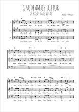 Téléchargez l'arrangement de la partition de Traditionnel-Gaudeamus-Igitur en PDF à trois voix