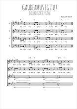 Téléchargez l'arrangement de la partition de Traditionnel-Gaudeamus-Igitur en PDF à quatre voix