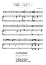 Téléchargez la partition de Gentil coquelicot en PDF pour Chant et piano