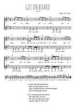 Téléchargez l'arrangement de la partition de Traditionnel-Get-on-board en PDF à deux voix