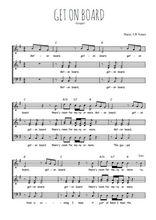 Téléchargez l'arrangement de la partition de Traditionnel-Get-on-board en PDF à quatre voix