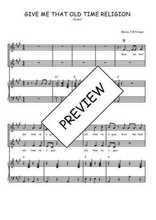 Téléchargez la partition de Give me that old time religion en PDF pour 2 voix égales et piano