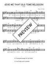 Téléchargez l'arrangement de la partition de Traditionnel-Give-me-that-old-time-religion en PDF à deux voix