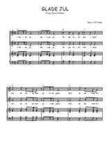 Téléchargez la partition de Glade Jul en PDF pour 2 voix égales et piano