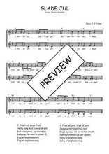 Téléchargez l'arrangement de la partition de Traditionnel-Glade-Jul en PDF à deux voix