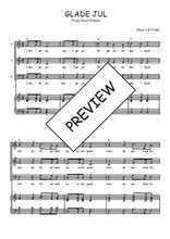 Téléchargez la partition de Glade Jul en PDF pour 3 voix SAB et piano
