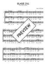 Téléchargez l'arrangement de la partition de Traditionnel-Glade-Jul en PDF à trois voix