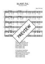 Téléchargez la partition de Glade Jul en PDF pour 4 voix SATB et piano