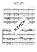 Téléchargez l'arrangement de la partition de Traditionnel-Glade-Jul en PDF à quatre voix