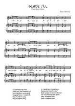 Téléchargez la partition de Glade Jul en PDF pour Chant et piano