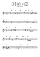 Téléchargez la partition en Sib de la musique spiritual-go-down-moses-let-my-people-go en PDF