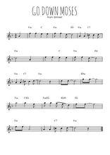 Téléchargez la partition pour saxophone en Mib de la musique spiritual-go-down-moses-let-my-people-go en PDF