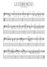 Téléchargez la tablature de la musique spiritual-go-down-moses-let-my-people-go en PDF