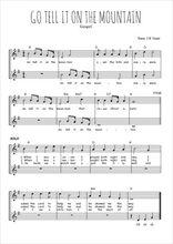 Téléchargez l'arrangement de la partition de spiritual-go-tell-it-in-the-mountain en PDF à deux voix