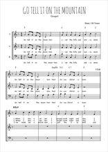 Téléchargez l'arrangement de la partition de spiritual-go-tell-it-in-the-mountain en PDF à trois voix