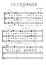 Téléchargez l'arrangement de la partition de spiritual-go-tell-it-in-the-mountain en PDF pour trois voix de femmes