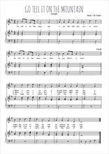 Téléchargez la partition de Go tell it on the mountain en PDF pour Chant et piano