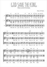 Téléchargez l'arrangement de la partition de hymne-national-britannique-god-save-the-king en PDF à trois voix