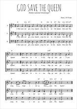 Téléchargez l'arrangement de la partition de hymne-national-britannique-god-save-the-queen en PDF à trois voix