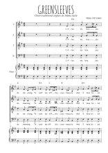 Téléchargez la partition de Greensleeves en PDF pour 4 voix SATB et piano