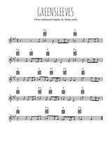 Téléchargez la partition en Sib de la musique angleterre-greensleeves en PDF