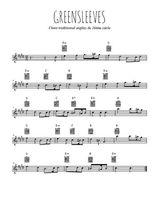 Téléchargez la partition pour saxophone en Mib de la musique angleterre-greensleeves en PDF