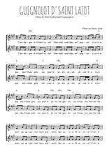 Téléchargez l'arrangement de la partition de Traditionnel-Guignolot-d-saint-Lazot en PDF à deux voix