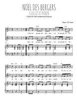 Téléchargez la partition de Noël des bergers, Guillot et Robin en PDF pour 2 voix égales et piano