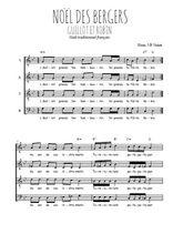 Téléchargez l'arrangement de la partition de noel-des-bergers-guillot-et-robin en PDF à quatre voix
