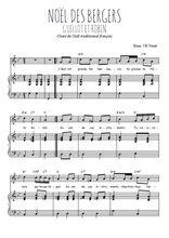 Téléchargez la partition de Noël des bergers, Guillot et Robin en PDF pour Chant et piano