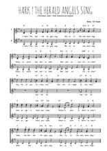 Téléchargez l'arrangement de la partition de chant-de-noel-hark-the-herald-angels-sing en PDF pour trois voix de femmes