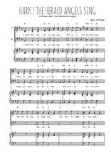 Téléchargez la partition de Hark ! The Herald angels sing en PDF pour 3 voix TTB et piano