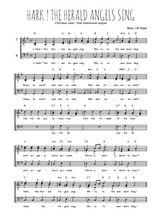 Téléchargez l'arrangement de la partition de chant-de-noel-hark-the-herald-angels-sing en PDF pour trois voix d'hommes
