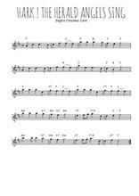 Téléchargez la partition pour saxophone en Mib de la musique chant-de-noel-hark-the-herald-angels-sing en PDF